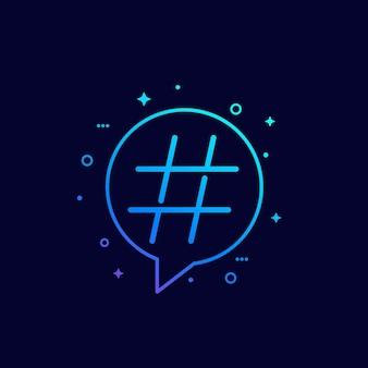 Hashtag-symbol, linear