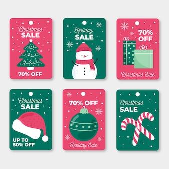 Hatte weihnachten verkauf tag sammlung gezeichnet