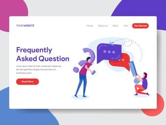 Häufig gestellte Frage Illustration für die Homepage
