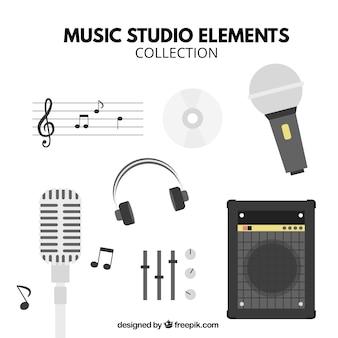 Hauptelemente eines musikstudio