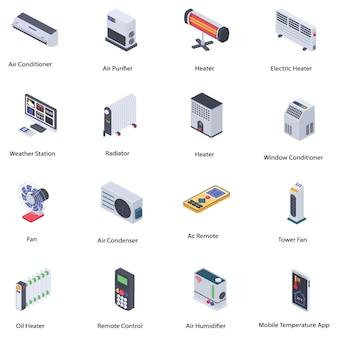 Hauptklimasteuerungs-ikonen-satz