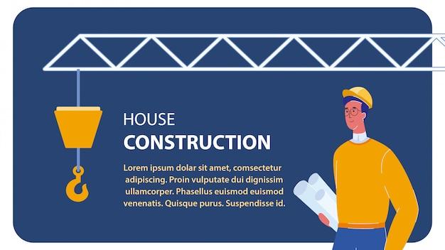 Haus bau vektor web banner vorlage