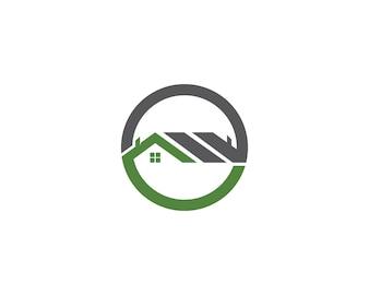 Haus Gebäude Logo und Symbole Icons Vorlage