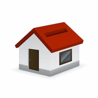 Haus geformte sparschwein-symbol