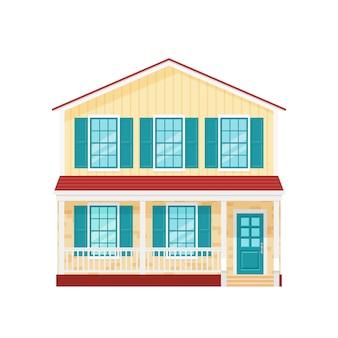 Haus, hausfassade,