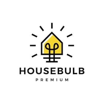Haus home glühbirne lampe idee smart think logo