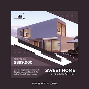 Haus immobilien verkauf web banner