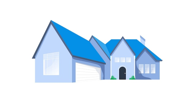 Haus isolierte vektor-illustration
