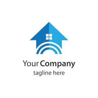 Haus logo bilder illustration design