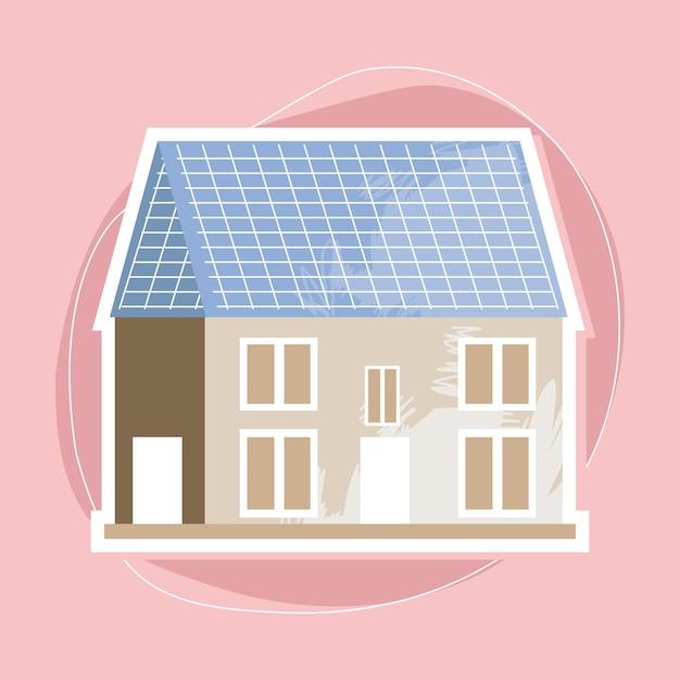 Haus mit solarpanel