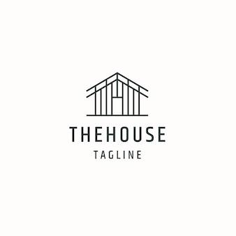 Haus oder haushütte hütte logo icon design vorlage flache vektor-illustration