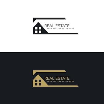 Haus- oder hauslogo-design im kreativen stil