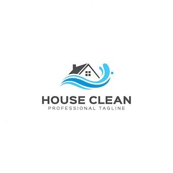 Haus sauber logo vorlage