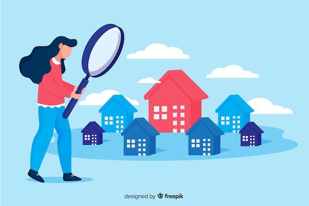 Haus suchen landing page-konzept