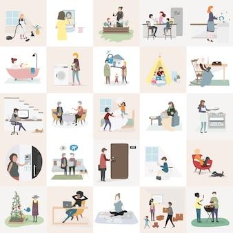 Haus- und Familienvektor