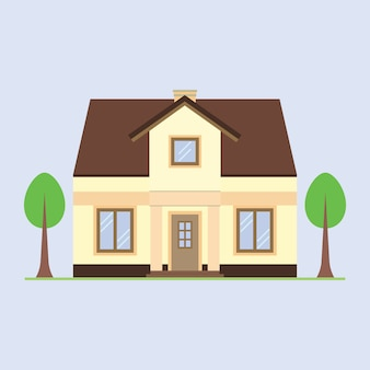 Haus-vektor-illustration.