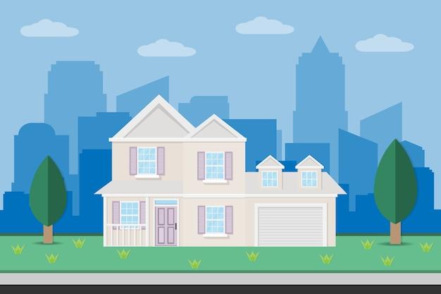 Haus wohnhaus design mit garten