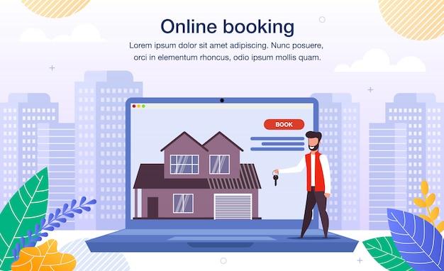 Haus, wohnung online booking flat banner