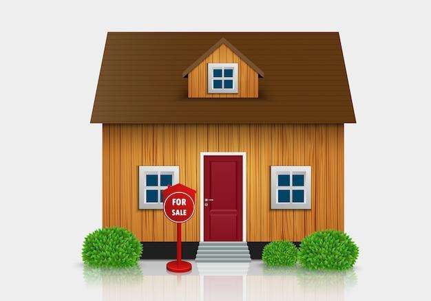 Haus zu verkaufen illustration