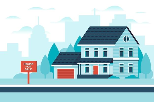 Haus zu vermieten illustriert