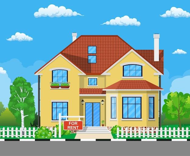 Haus zu vermieten. immobilienkonzept