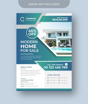 Haus zum verkauf immobilien flyer design digitales marketing instagram post