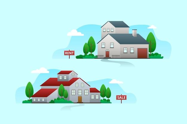 Haus zum verkauf konzept