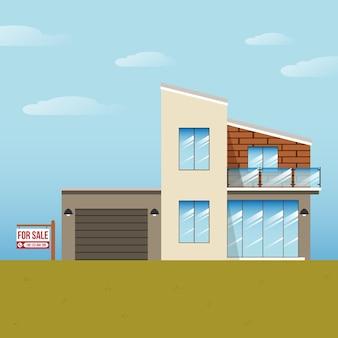 Haus zum verkauf mit schild