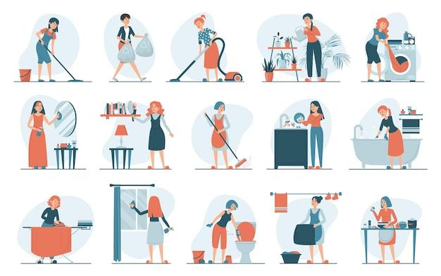 Hausarbeitssetillustration