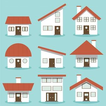 Hausarchitektur-sammlungssatz