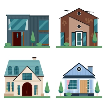 Hausarchitektur-stil-sammlung
