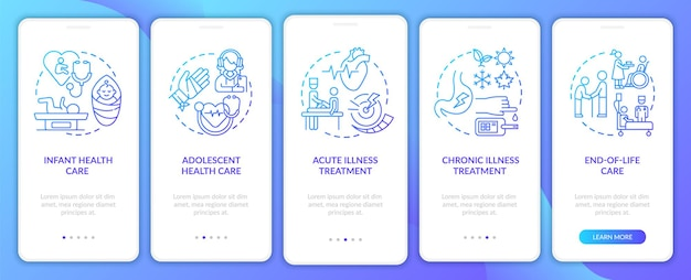 Hausarzt unterstützt navy onboarding mobile app seite bildschirm mit konzepten
