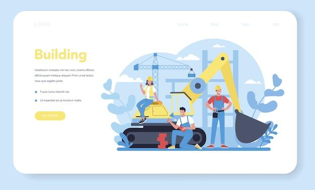Hausbau-web-banner oder landingpage.