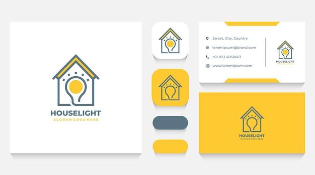 Hausenergie-logo-vorlage und visitenkarte