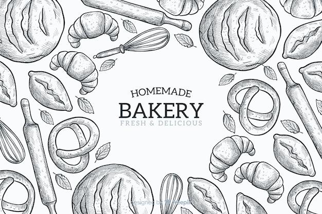 Hausgemachte bäckerei hintergrund