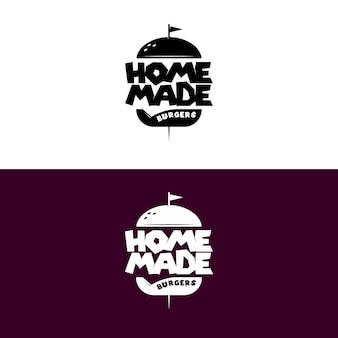 Hausgemachte burger retro-logo