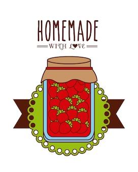 Hausgemachte marmelade design