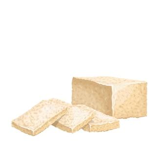 Hausgemachter tofu, bohnengallerte.