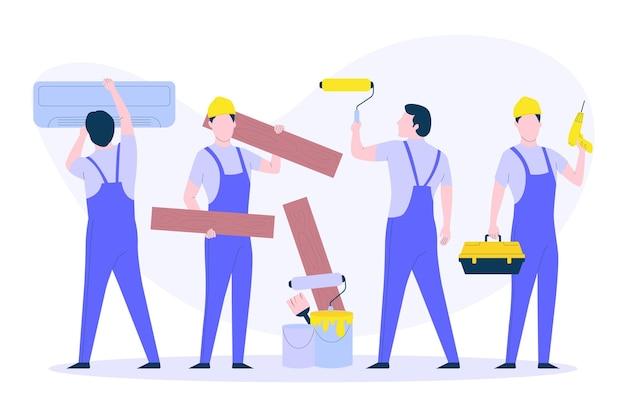 Haushalts- und renovierungsberufe