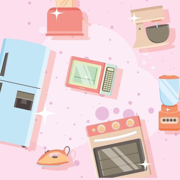 Haushaltsgeräte-muster