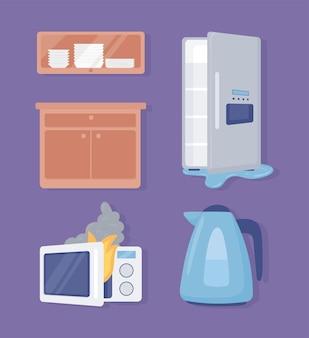 Haushaltsgeräte-objekte