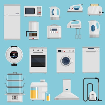 Haushaltsgeräte Icons Set