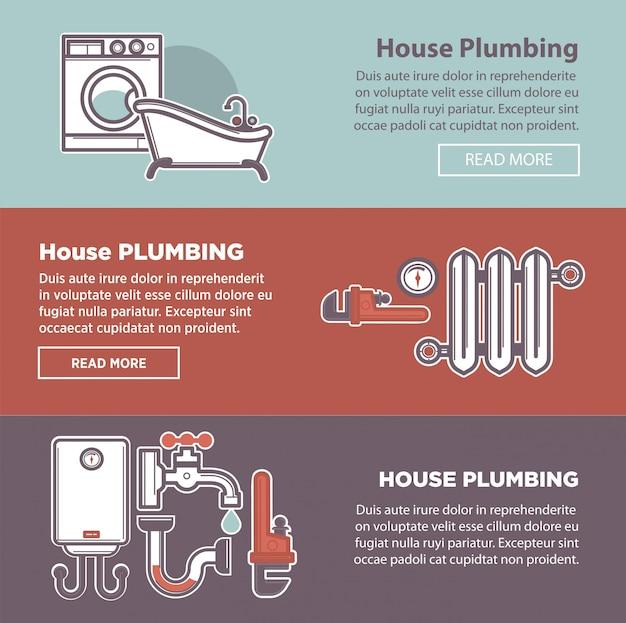 Hausinstallation und klempnerbefestigung
