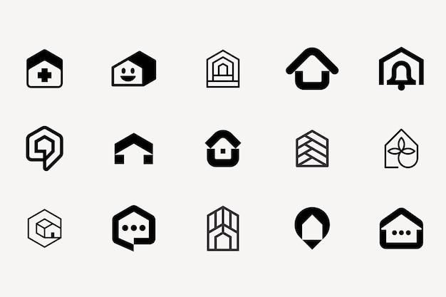 Hauslogo modernes symbol markenzeichen