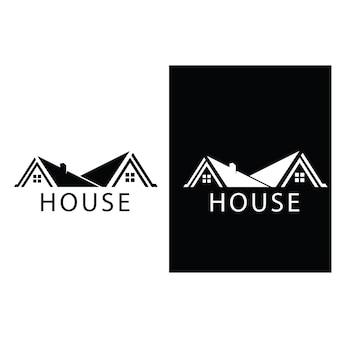 Hauslogo und symbolvektorbild