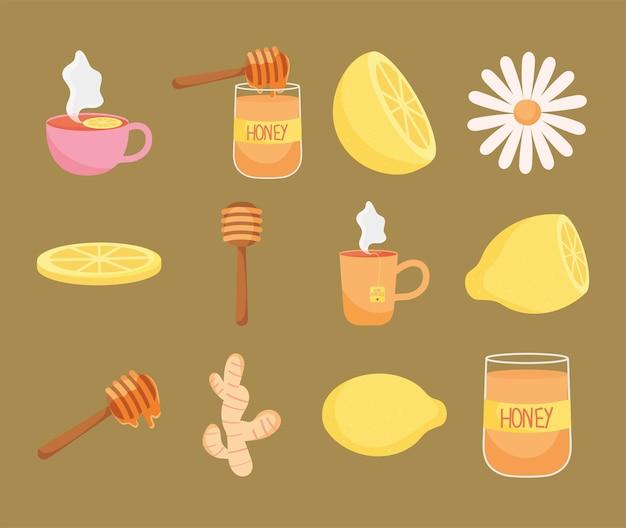 Hausmittel-icon-set