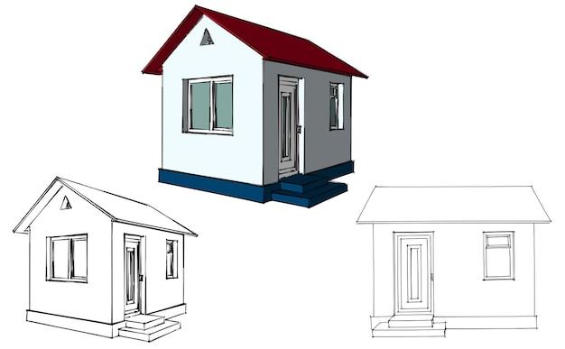Hausplan-layout. hausbau architektur. vektor-illustration. abbildung auf weißem hintergrund.