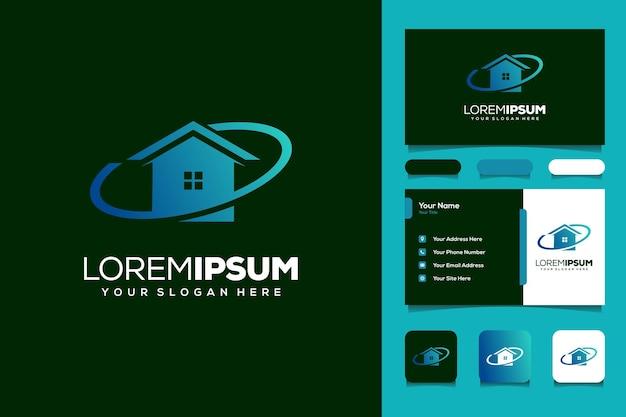 Hausplanet-logo-design-vorlagen-visitenkarte
