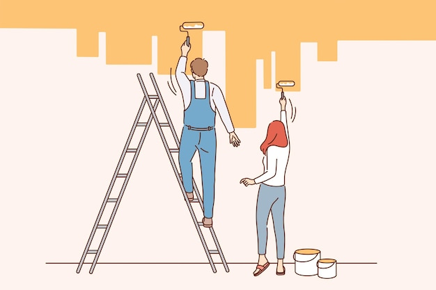 Hausrenovierungs- und reparaturkonzept