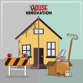 Hausrenovierungswerkzeuge